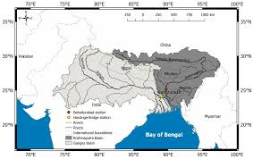 Brahmaputra River On Map Water Free Full Text Fifteen Years 1993 U20132007 Of Surface