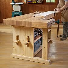 Plans For Making A Wooden Workbench by Make A Statement Workbench Woodworking Plan From Wood Magazine