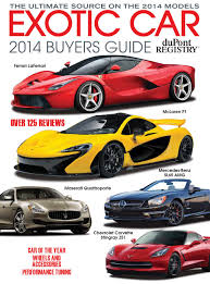 exotic cars lined up dupontregistry u0027s exotic car buyers guide 2014 by dupont registry