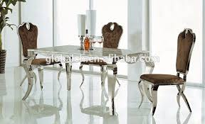 stainless steel dining room tables marble top stainless steel frame dining table marble top stainless