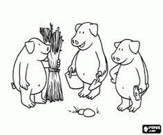 pigs houses coloring pages 3 pigs stage