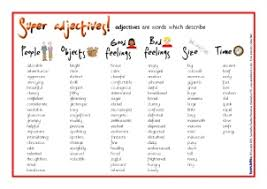Powerful Adjectives Related Keywords Amp by Ks1 U0026 Ks2 Adjectives Teaching Resources And Printables Sparklebox