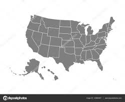 Usa Map Black And White by Blank Similar Usa Map Isolated On White Background United States