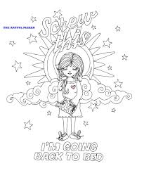 this i u0027m going back to bed coloring page by