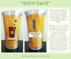 starbuck gold card handmade personalized starbucks gold card template cold tumbler with