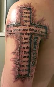 3d cross with words tattoo creativefan