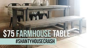 Astonishing Pedestal Farmhouse Table Dining 75 Farmhouse Dining Table Build Shantyhousecrash Youtube