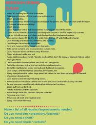 clean bedroom checklist cleaning checklist for teens pilotproject org