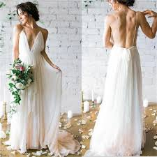 most popular wedding dresses 2017 charming simple v neck backless most popular