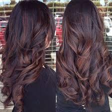 partial red highlights on dark brown hair best 25 brunette red highlights ideas on pinterest winter hair
