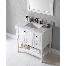 Virtu Usa Vanity Virtu Usa Msgwh Ava  In Bathroom H - Virtu usa caroline 36 inch single sink bathroom vanity set