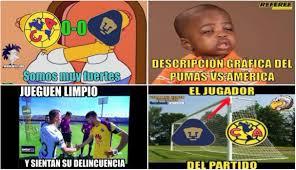 Memes De America Vs Pumas - américa vs pumas memes tras el 0 0 del clásico capitalino por liga