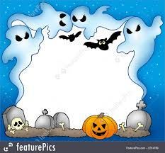 halloween frame clipart halloween halloween frame with ghosts 2 stock illustration