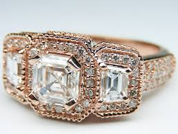 Vintage Wedding Rings by Rose Pink Gold Engagement Rings From Mdc Diamonds Nyc