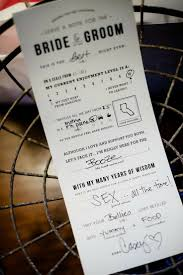 Advice For Bride And Groom Cards But Totally Awesome Wedding Ideas