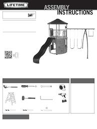 lifetime brands backyard playset 90440 user guide manualsonline com