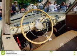 Phaeton Interior Gaz 12 Zim Phaeton Vintage Car Interior Stock Editorial
