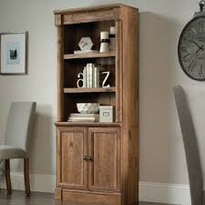 Cherry Wood Bookcase With Doors Bookcases With Doors You U0027ll Love Wayfair