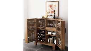 marin natural bar cabinet crate and barrel
