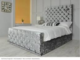 Ottoman Storage Beds Ella Ottoman Storage Bed Upholstered In Chenille Or Crushed Velvet