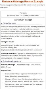 Examples Of Restaurant Manager Resumes by 7 Best Restaurant Manager Resume