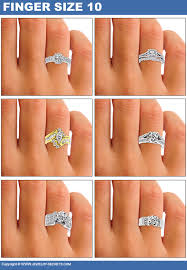 engagement finger rings images How big will the diamond look on her finger jewelry secrets jpg