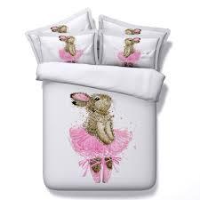 girls princess bedding jf 135 princess girls rabbit ballet dancer print bedding sets king