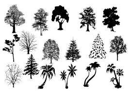 17 tree custom shapes for photoshop zlark