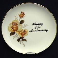 50th anniversary plate vintage royal happy 50th anniversary plate china