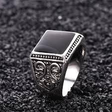 aliexpress buy mens rings black precious stones real aliexpress buy mens rings black precious stones white gold