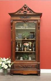 Beveled Glass China Cabinet Antique French Rosewood And Oak Bevelled Glass Bookcase Display