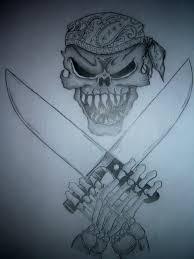 skull chef knives tattoo by customtattooflash on deviantart