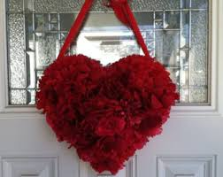 Valentines Door Decorations Classroom by Shabby Chic Heart Wreath Valentines Day Heart Shaped