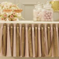 Gold Tassels On American Flag Pastel Pink And Gold Tassel Garland Decoration By Ginger Ray