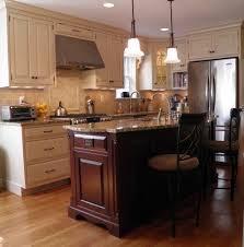 giallo napoleon granite kitchen traditional with cherry cabinets