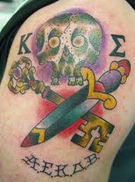 skull sword u2013 fraternity seal alley cat tattoo cookeville tn