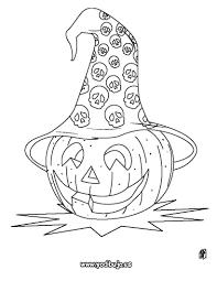 calabazas de halloween dibujos para colorear halloween calabaza con sombrero es
