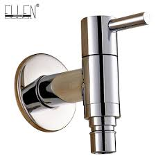 Bathroom Fixture Finishes Chrome Finish Washing Machine Faucet Brass Outdoor Garden Tap Wall