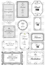 Wedding Invitation Cards Download Free Ornate Elegant Frames For Wedding Invitation Cards Vector Image