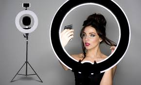 best led ring light 179 for a dimmable 19 led ring light for photography and make up