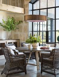 30 unassumingly chic farmhouse style dining room ideas use of natural materials for the dining table and chairs add to the farmhouse style