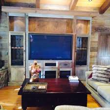 custom reclaimed barn wood entertainment center www custom