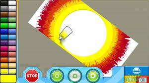 rainbow power spin art nick jr creativity centar creative game