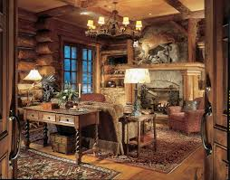 Decorate Office Cabin Country Office Decor Rustic Home Office Decorating Ideas Rustic