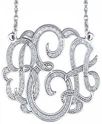 customizable jewelry alison 3 initial multi diamond classic monogram necklace