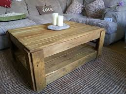 Coffee Table From Pallet Diy Pallet Board Coffee Table 15 Unique Reclaimed Pallet Table