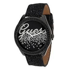 montre guess bracelet cuir images Quartz en acier inoxydable montre guess noir femme sur bracelet en jpg