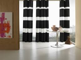 black and white horizontal striped curtains striped drapes black