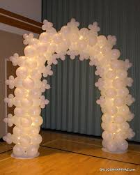 wedding arch lace lighted balloon arch lace snowflake white wedding 1