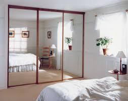 Whole Wall Sliding Glass Doors Bedroom New Interior High Mirror Sliding Glass With Brown Wooden